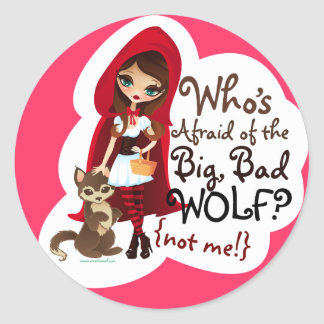 Who's Afraid of the Big Bad Wolf? Classic Round Sticker