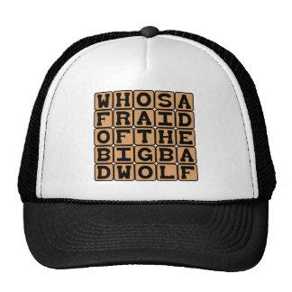 Who's Afraid Of The Big Bad Wolf, Nursery Rhyme Hat