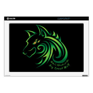 "Who's Afraid of the Big Dread Wolf 17"" Laptop Decal"