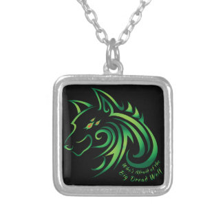 Who's Afraid of the Big Dread Wolf Silver Plated Necklace