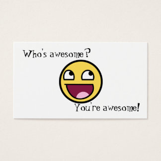 Who's Awesome? Business Card