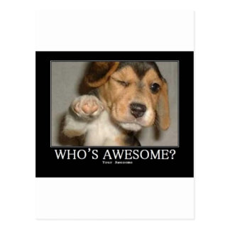 whos-awesome postcard