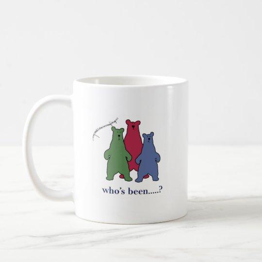 'who's been.....?' coffee mug