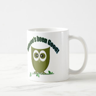 Who's been good! cute owl design coffee mug