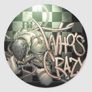 Who's Crazy? Norm Stickers