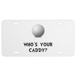 Whos Golf Caddy License Plate