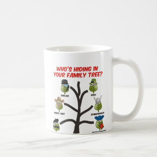 Who's Hiding In Your Family Tree Classic White Coffee Mug