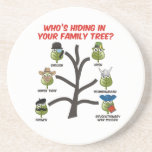 Who's Hiding In Your Family Tree Coaster