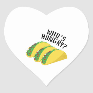 Who's Hungry? Heart Sticker