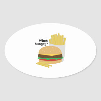 Who's Hungry? Oval Sticker