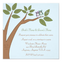 Who's In Love Owl Wedding Card