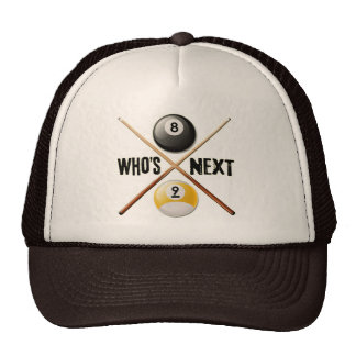Whos Next 8 and 9 Ball Trucker Hat