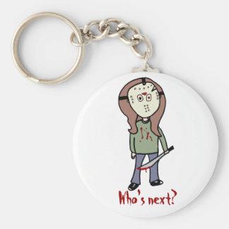 Who's next? basic round button keychain