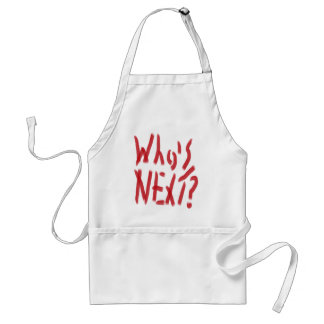 Who's Next in blood Adult Apron