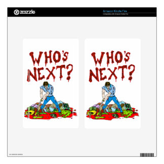 Who's Next? Zombies Decal For Kindle Fire