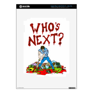 Who's Next? Zombies Decals For iPad 3