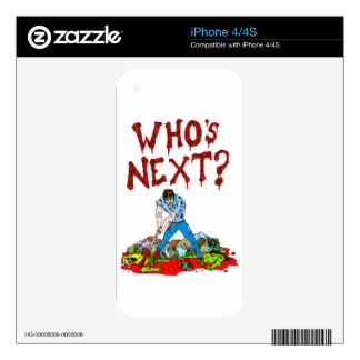 Who's Next? Zombies iPhone 4S Decal