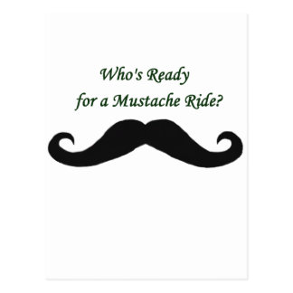 Who's Ready For A Mustache Ride? Postcard