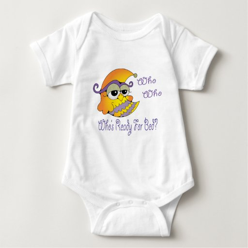 Who's ready for bed owl baby bodysuit