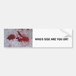 WHO'S SIDE ARE YOU ON? BUMPER STICKER
