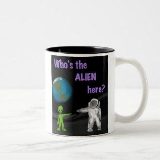 Who's the Alien Here? mug