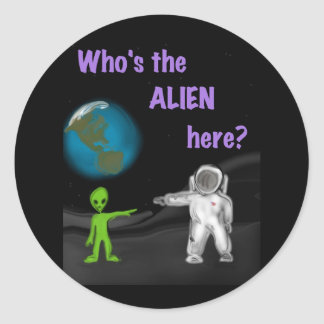 Who's the Alien here? sticker