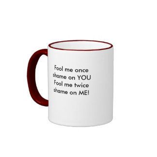 Who's the fool cup ringer coffee mug