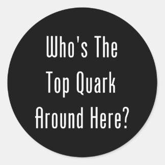 Who's The Top Quark Around Here? Classic Round Sticker