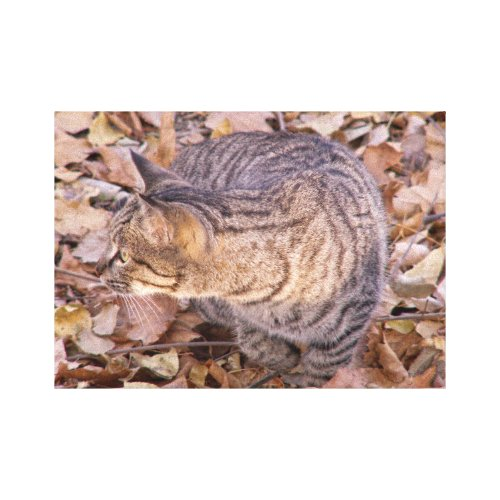 Who's There? Canvas Print - pretty fall wall decorations