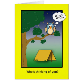 Who's Thinkig of You at Camp? Greeting Card