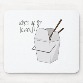 Who's Up For Takeout? Mouse Pad
