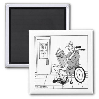 Who's Who in the Amnesia Ward 2 Inch Square Magnet