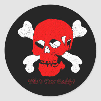 Who's your daddy classic round sticker