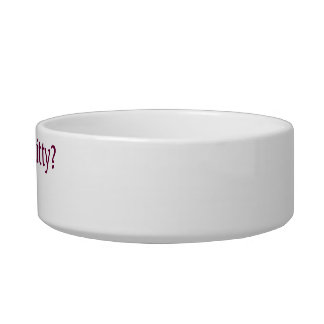 Who's your kitty?...Me! cat bowl