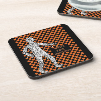 Who's Your Mummy Halloween Beverage Coaster