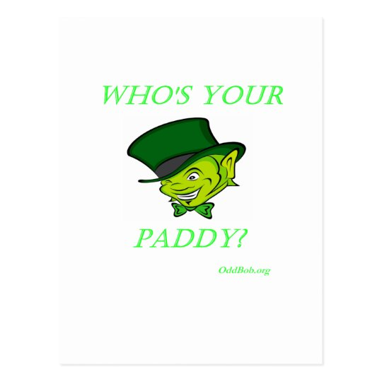 Who's Your Paddy Postcard