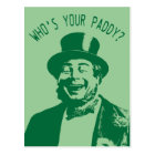 Who's Your Paddy Saint Patricks Day Postcard