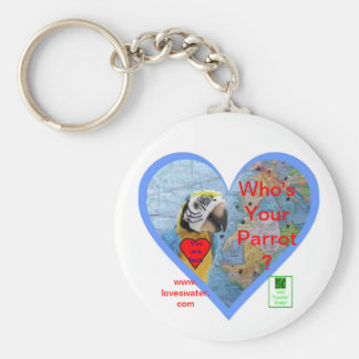 Who's your Parrot? Wally Lover's Keychain