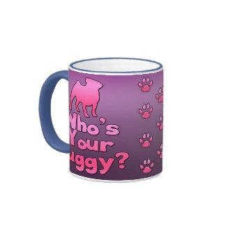 Who's your Puggy? (Pink) Ringer Mug