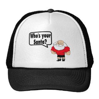Whos Your Santa 1 Mesh Hats