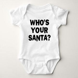 Who's Your Santa? Baby Bodysuit