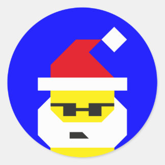 Who's Your Santa, Baby? Classic Round Sticker