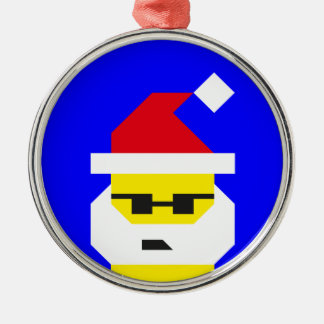 Who's Your Santa, Baby? Metal Ornament
