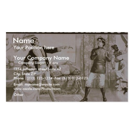 Whose Baby are You?, 'Choose your Weapon' Retro Th Business Cards