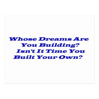 Whose Dreams?  Post Cards
