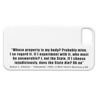 Whose Property is My Body by Samuel Clemens iPhone SE/5/5s Case