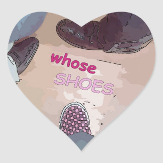 Whose Shoes Sticker