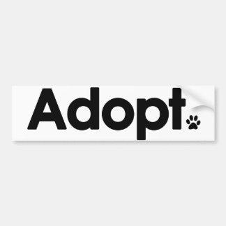 WHS Adopt Logo Car Bumper Sticker