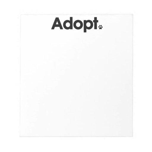 WHS Adopt Logo Memo Pad