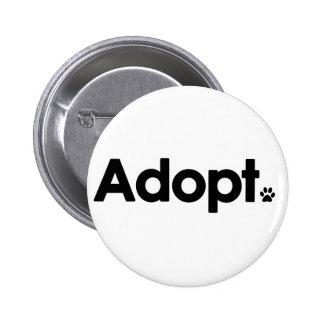 WHS Adopt Logo Pinback Button